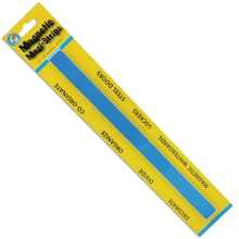 """Ashley Productions .75"""" x 12"""" Blue Magnetic Magi-Strips, 5 Pack"""