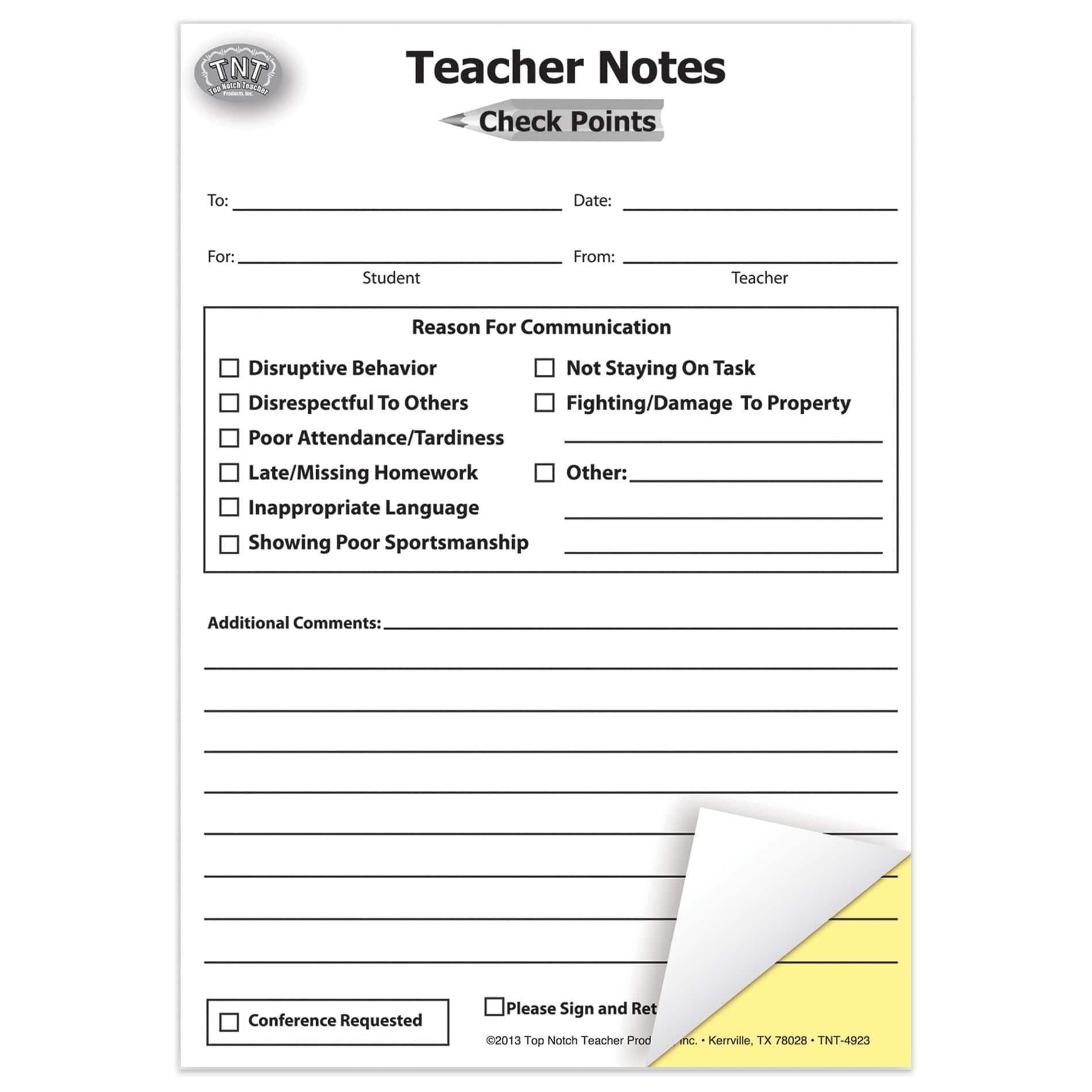 carbonless homework forms