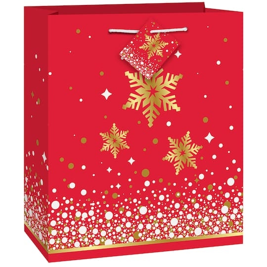 Christmas Gift Bags.Gold Sparkle Christmas Gift Bag