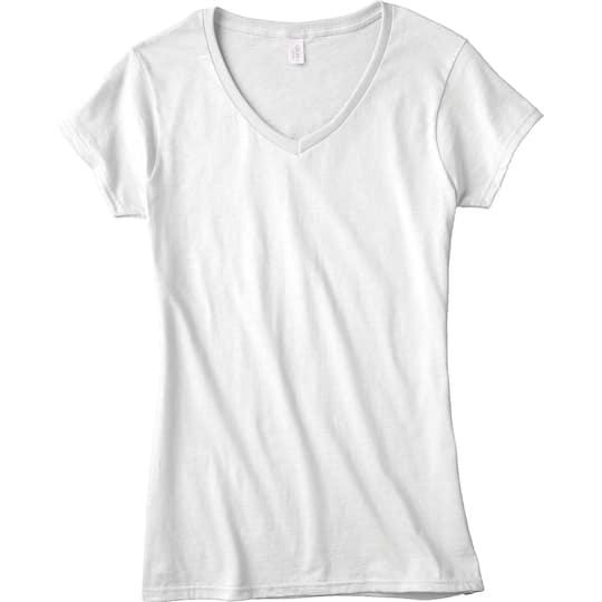 Gildan Short Sleeve Missy V Neck T Shirt