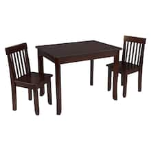 KidKraft Avalon Table II & 2 Chair Set, Espresso