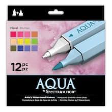 spectrum noir aqua watercolor markers floral12 pack