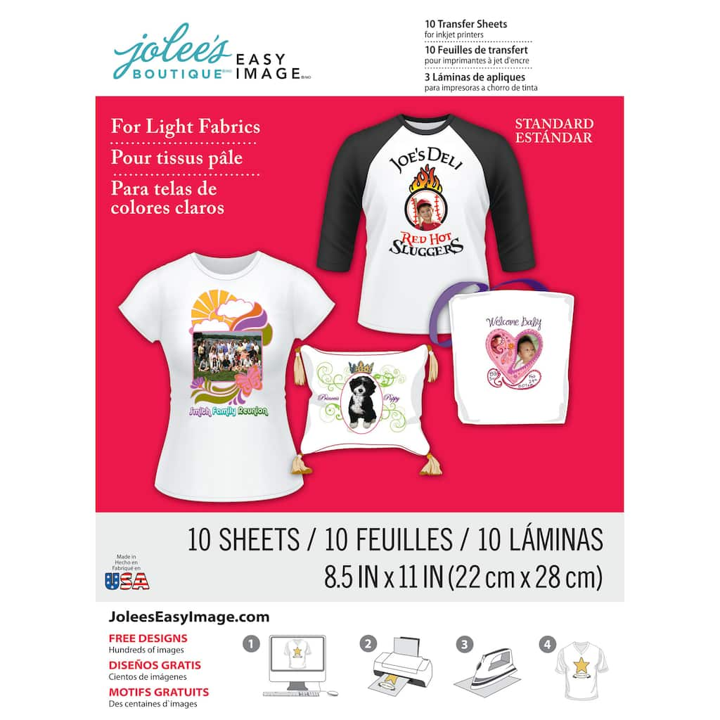 Jolees Boutique Iron On Transfer Paper For White Fabric