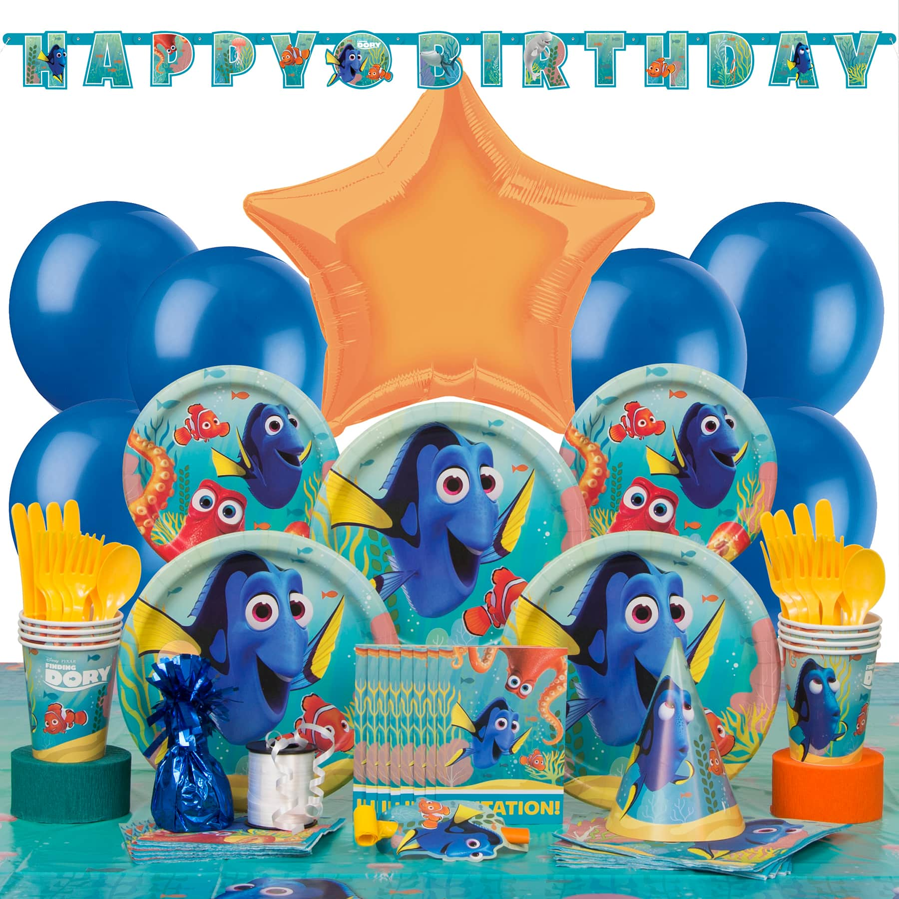 4 x Finding Dory Nemo Birthday Party Assorted Pick Candles Cake Decoration