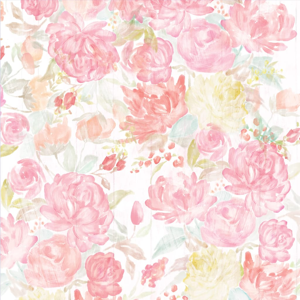 Shop For The Watercolor Floral Scrapbook Paper By Recollections At