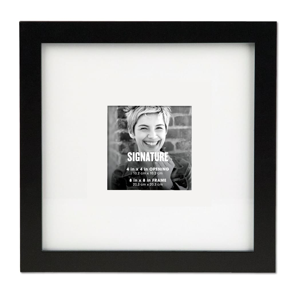 Buy the Black Signature Square Frame with Mat by Aaron Brothers at ...