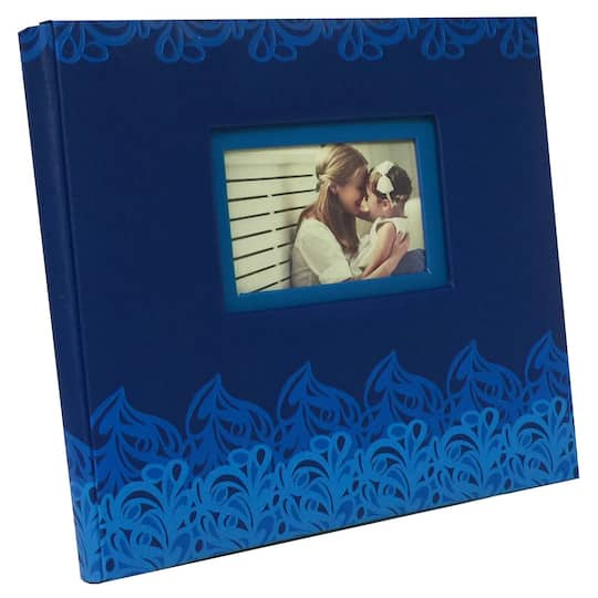 Find The Blue Yellow Gray Wave Scrapbook Album By Recollections