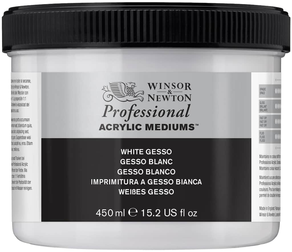 Winsor & Newton Professional Acrylic Medium, White Gesso - 450ml
