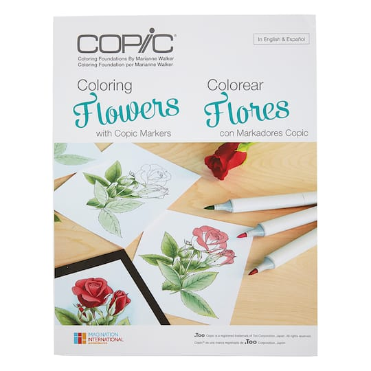Copic® Coloring Foundations, Coloring Flowers by Marianne Walker