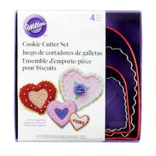 wilton cookie cutter set hearts - Christmas Cookie Cutters Walmart
