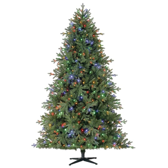 7 5ft Pre Lit Quick Set Victoria Spruce Artificial Christmas Tree Color Changing Led Lights By Ashland