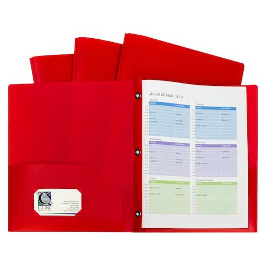 C-Line®Two-Pocket Heavyweight Poly Portfolio Folder With
