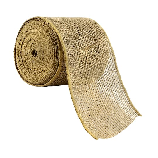 Prime 4 Burlap Wired Ribbon By Celebrate It Occasions Ncnpc Chair Design For Home Ncnpcorg