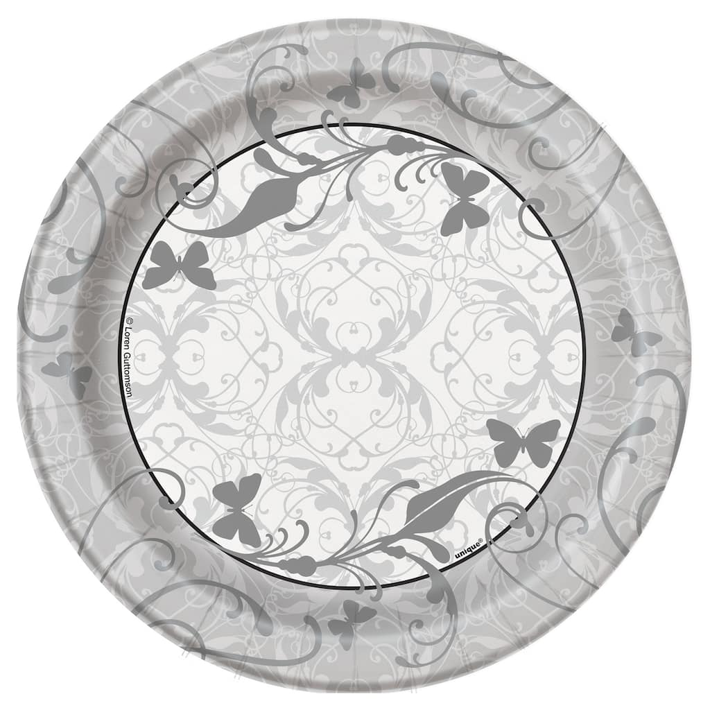 7 Victorian Wedding Party Plates 8ct