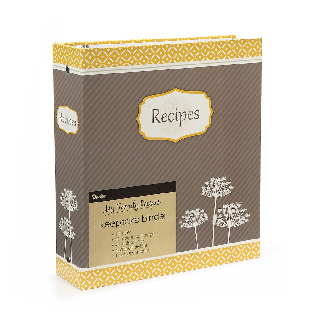 recipe binder yellow floral design make your own recipe book