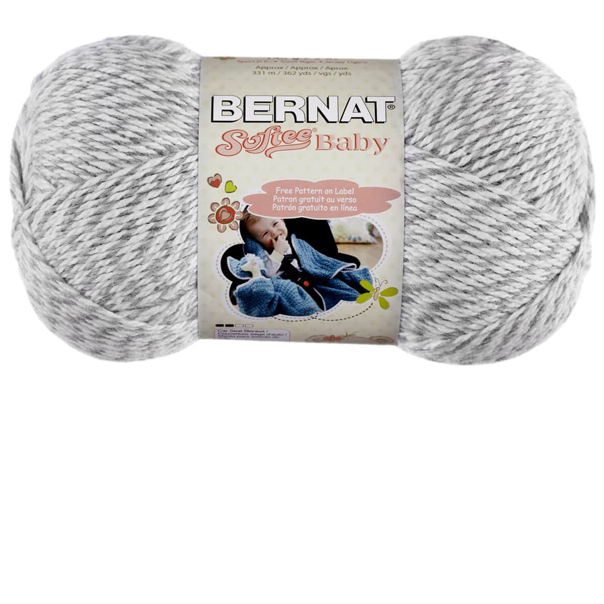 Bernat Softee Baby Yarn Solid Knit Crochet New Blue Jeans Free Shipping U.S.