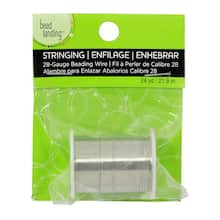 Bead Landing Beading Wire, Silver, 28 ga