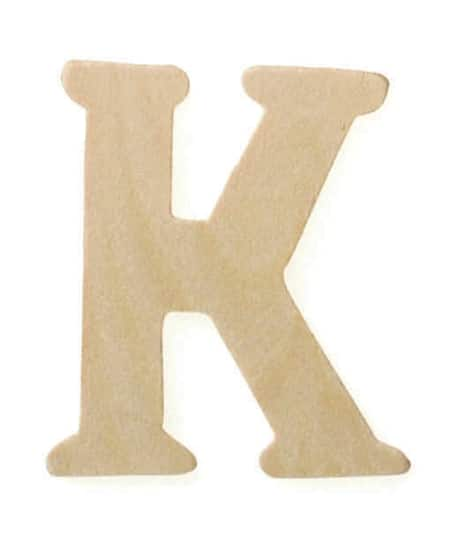 darice small wooden letters 15 unfinished wood letter k 2 pack