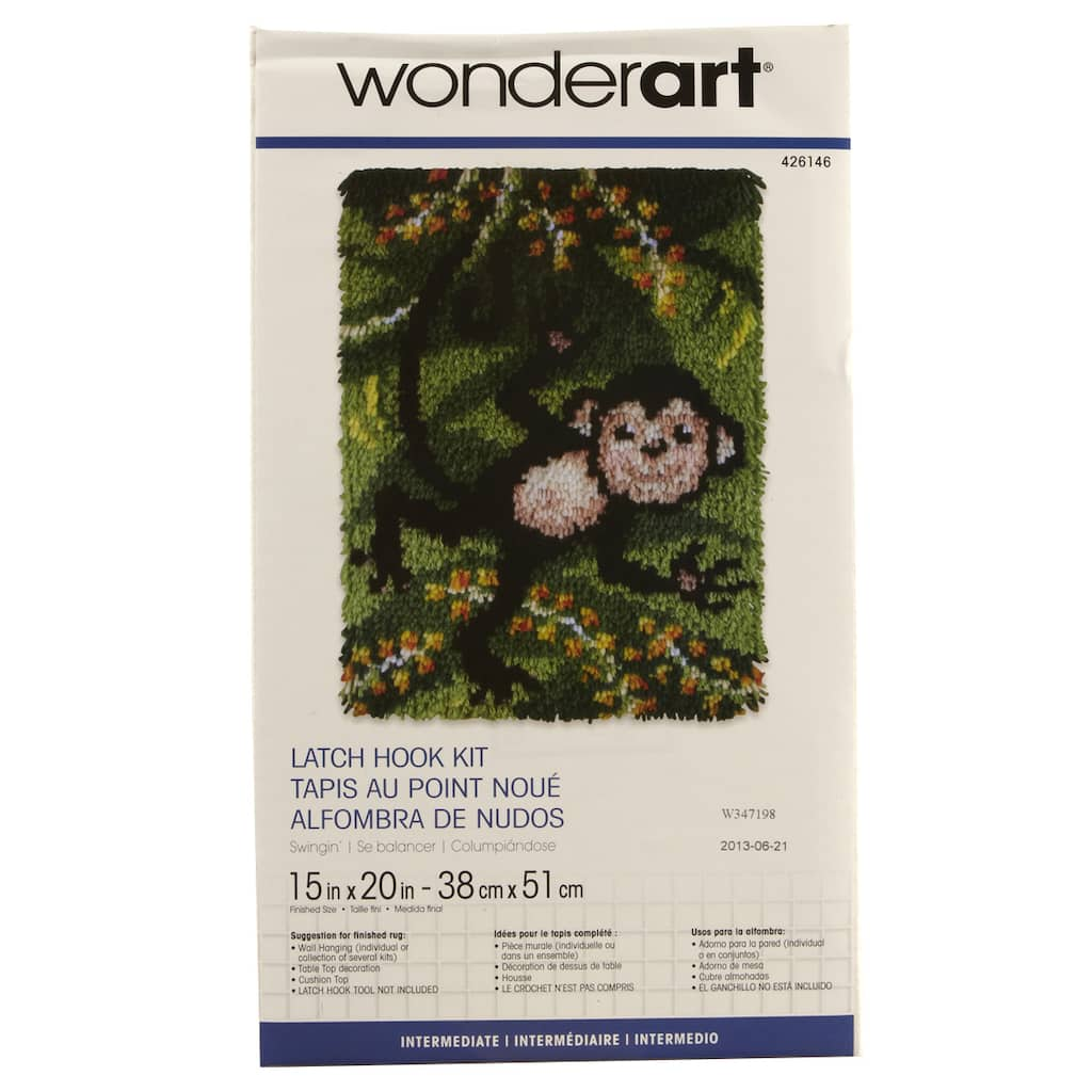 Wonderart Latch Hook Kit Swingin