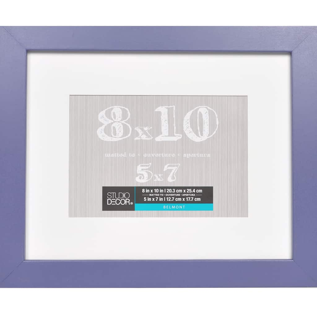 Purple belmont frame with mat by studio décor
