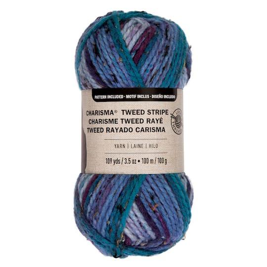 Charisma™ Tweed Stripe Yarn by Loops & Threads®