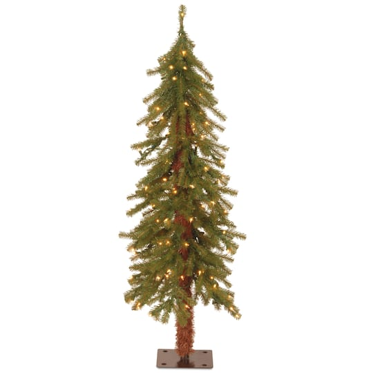 4 ft pre lit hickory cedar artificial christmas tree clear lights