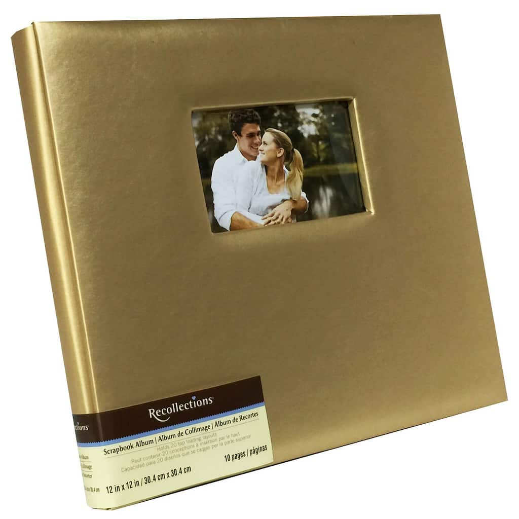 Gold Faux Leather Scrapbook By Recollections