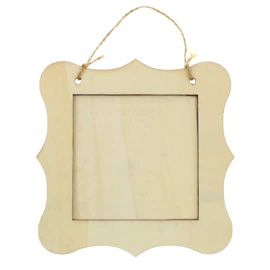 Hanging Wooden Frame by ArtMinds™