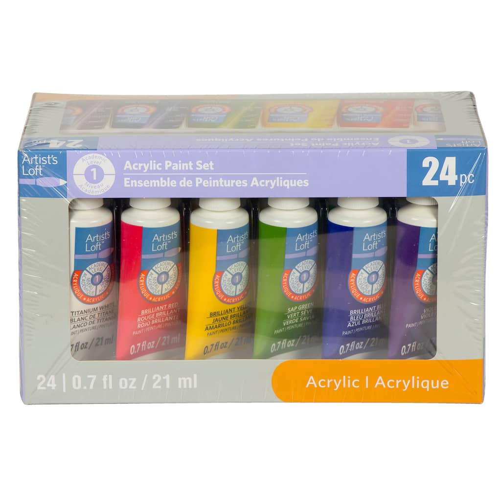Find The Acrylic Paint Set By Artist S Loft 24 Pieces At