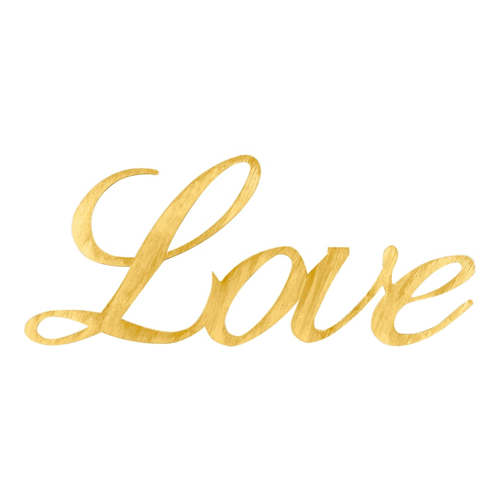 Shop for the Gold Love Script Wall Décor Accent, Alexandria By ...