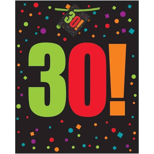 Large Birthday Cheer 30th Gift Bag Img