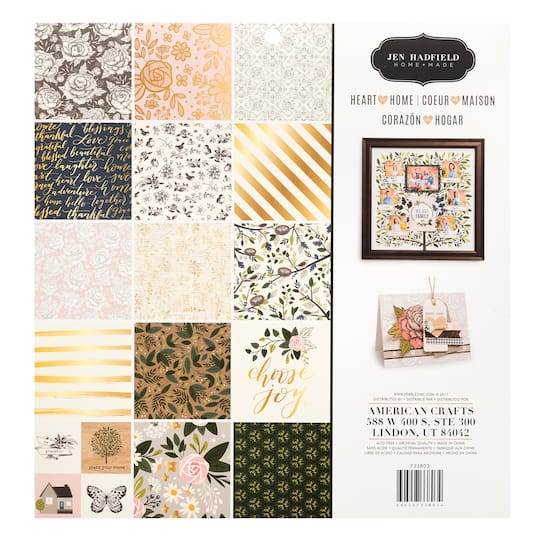 Jen Hadfield 12 x 12  Paper Pads~5 Varieties~ADORABLE Quick Ship!