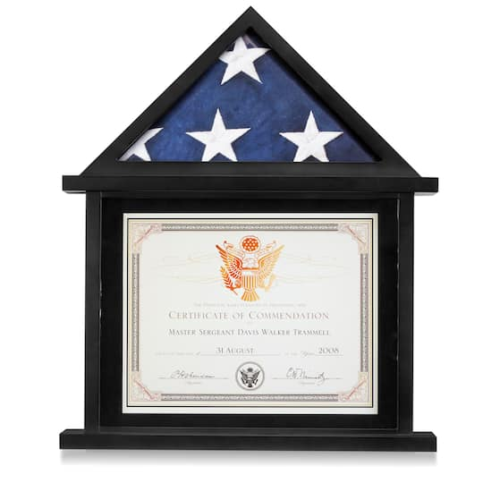 studio® decor flag & certificate display case