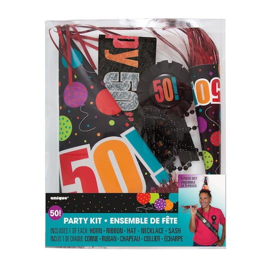 Birthday Cheer 50th Party Accessories Kit