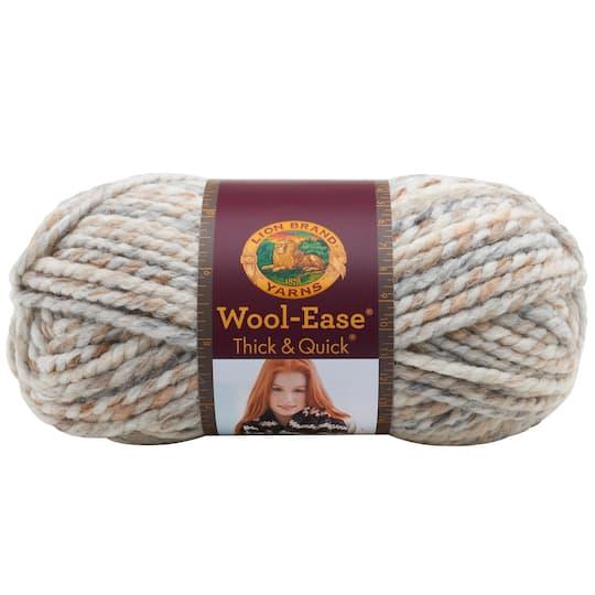 Lion Brand Wool Ease Thick Quick Yarn Prints Stripes Metallics
