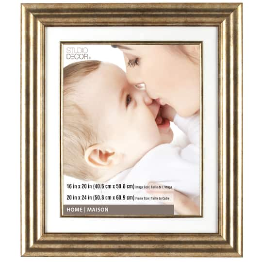Champagne Frame 20 X 24 With 16 X 20 Mat Home Collection