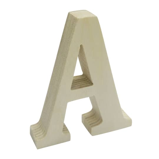 3 Chunky Wood Letter By Artminds