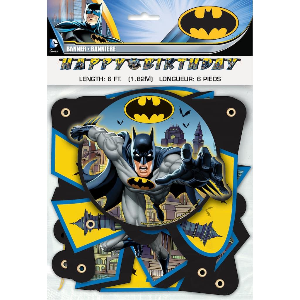 BATMAN Birthday Banner