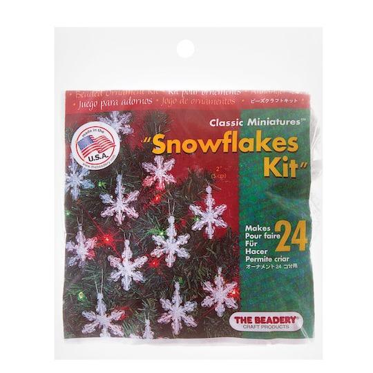 the beadery mini snowflake christmas ornaments kits