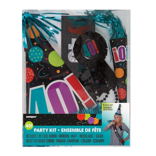 Birthday Cheer 40th Party Accessory Kit Img