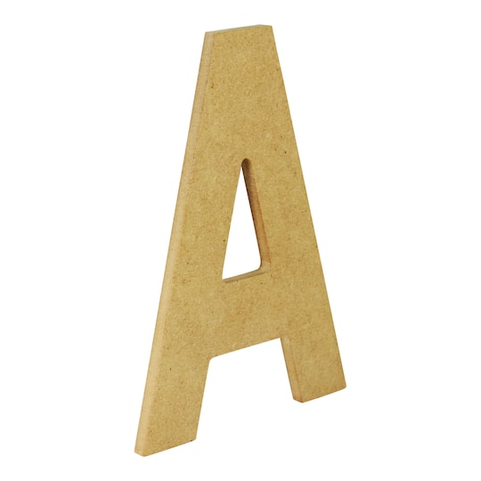 Unfinished Wood Letter By ArtMinds®, 5\