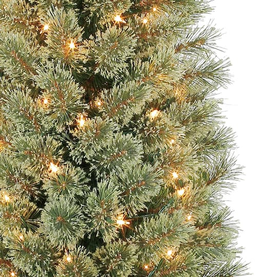 7ft pre lit pencil cashmere artificial christmas tree clear lights by ashland img img img