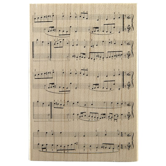 RecollectionsTM Wood Stamp Sheet Music