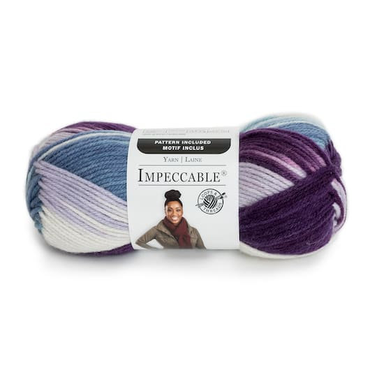 Shades of green TROPICAL FRUIT Impeccable Yarn Loops and Threads Impeccable 100/% Acrylic Multi Color Ombre Variegated 3.5oz