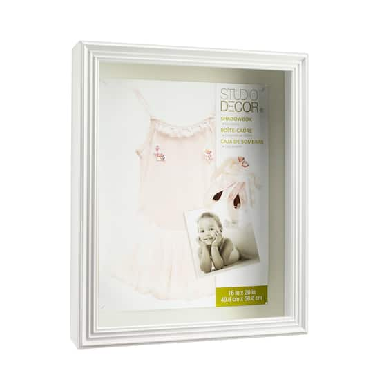 White Shadow Box 16 X 20 By Studio Décor