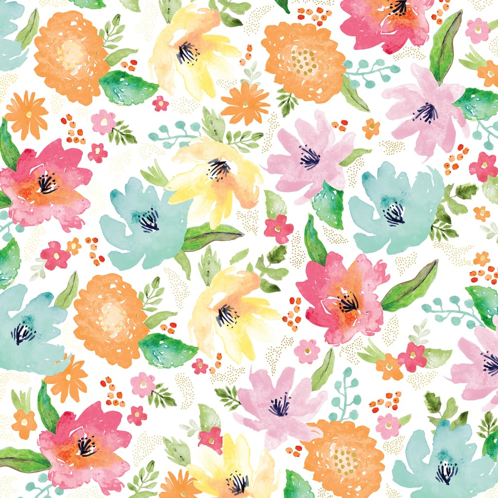 Shop For The Large Floral Foil Paper By Recollections At Michaels