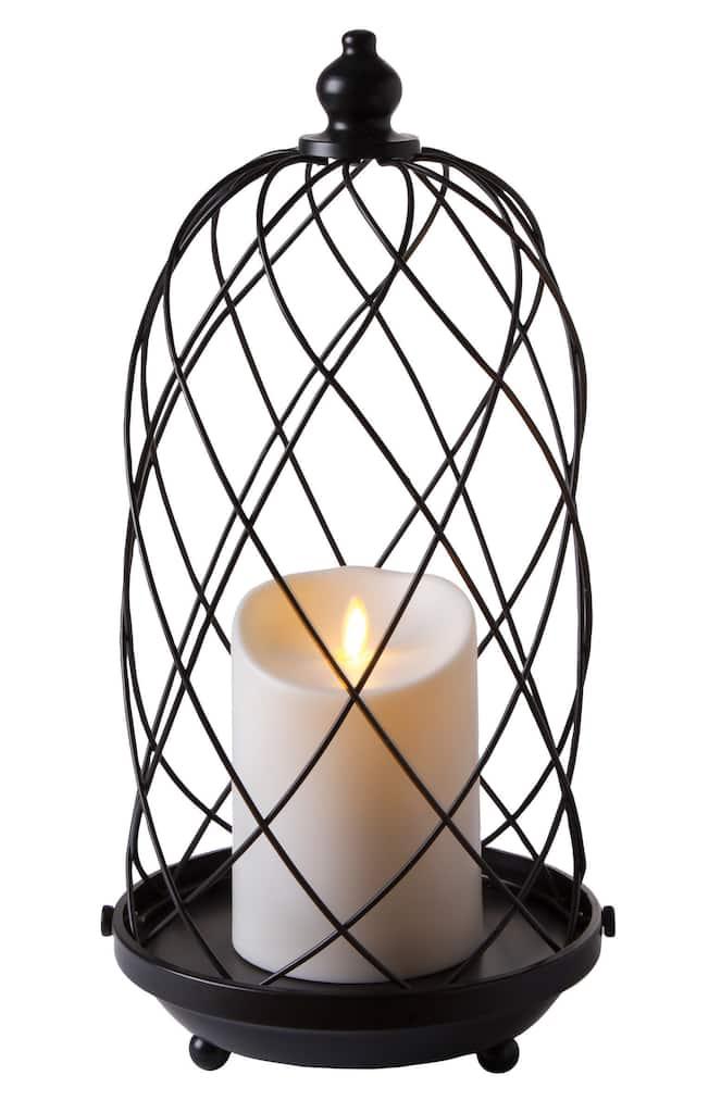 Luminara® Black Bird Cage Flameless Candle Holder