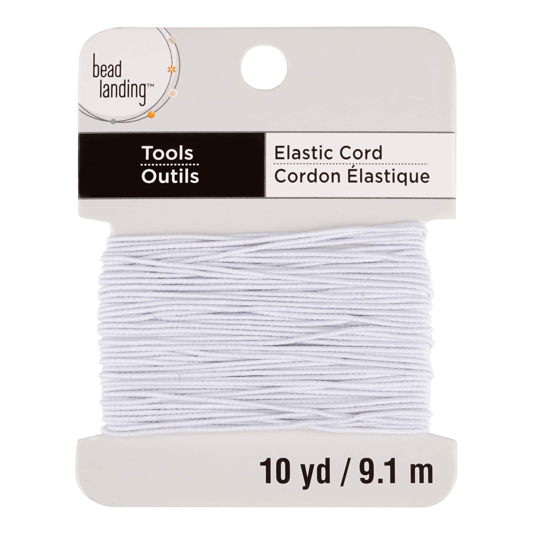 Lot of 6 White Elastic 1 mm Thin Cord String Jewelry Create A Craft DIY 10 Yd