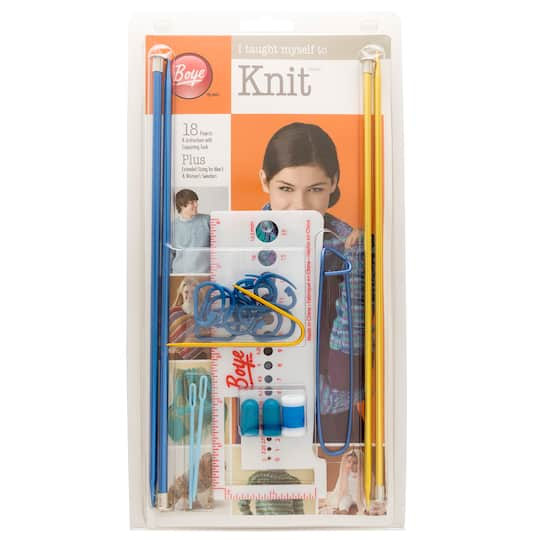 Find The Boye I Taught Myself To Knit Kit At Michaels