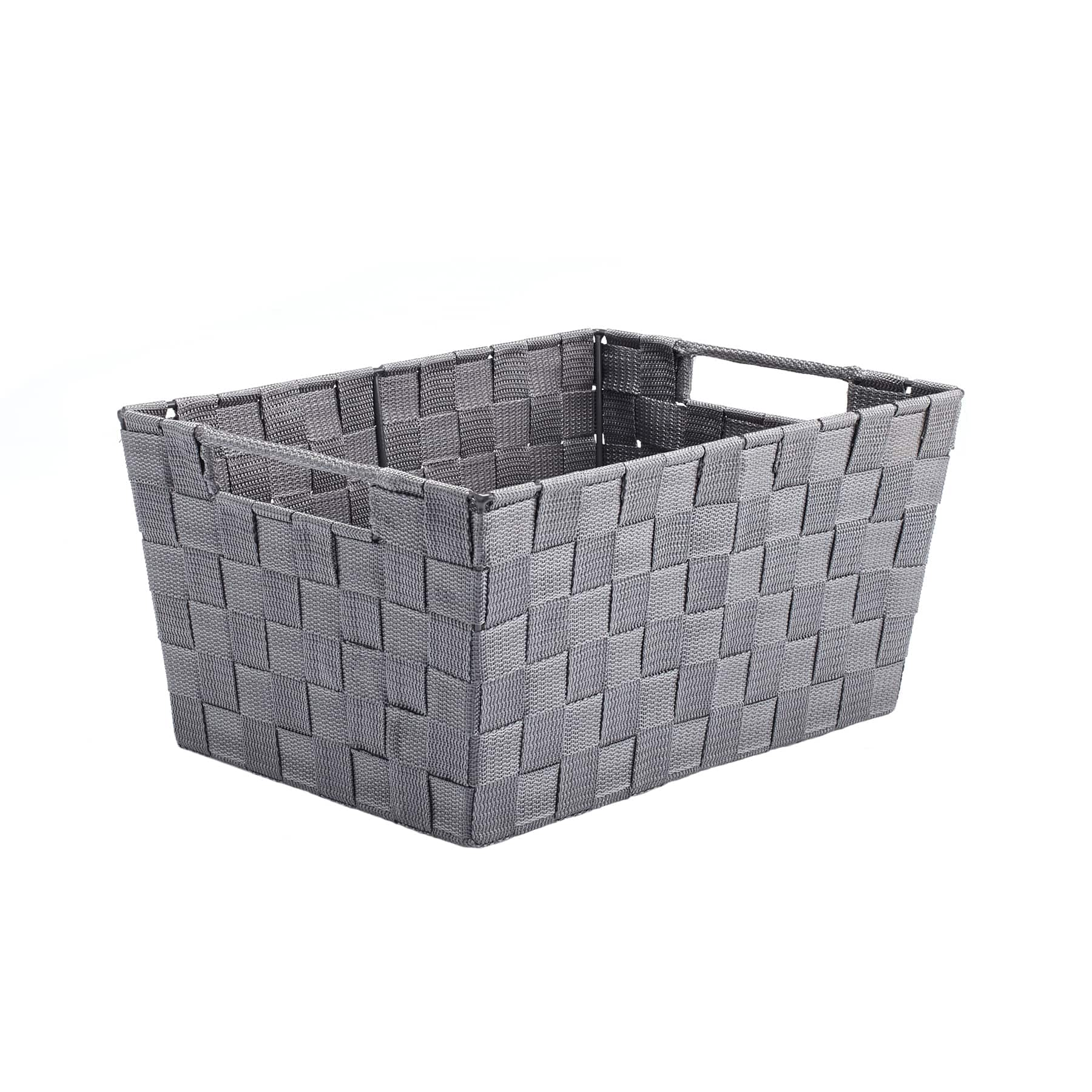 Gray Nylon Tapered Storage Basket With Handle Cutouts By Ashland®